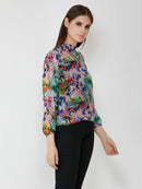multi printed top