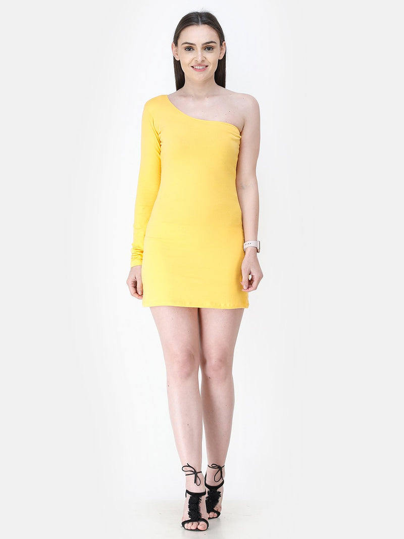 Yellow Solid Dress