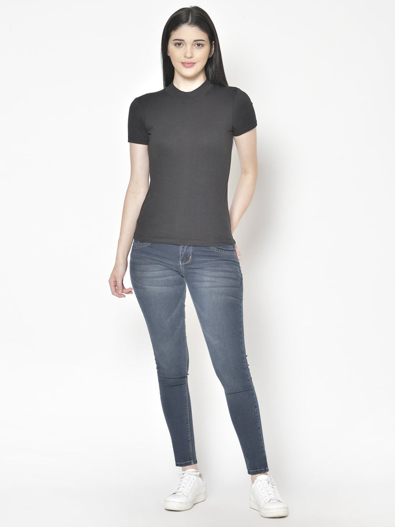 Cation Black Cotton Top