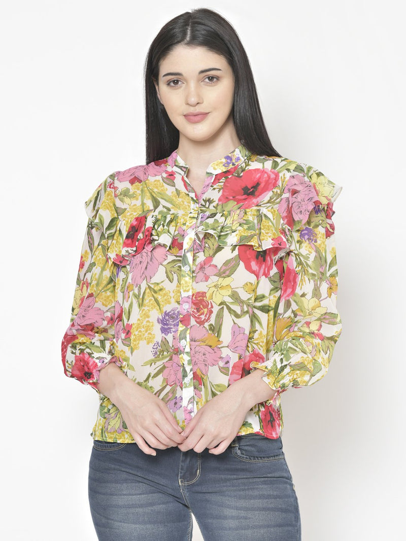 Cation Multicolor Printed Shirt