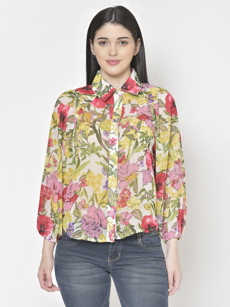 Cation Blue Printed Shirt