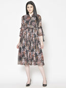 Cation Printed Dress