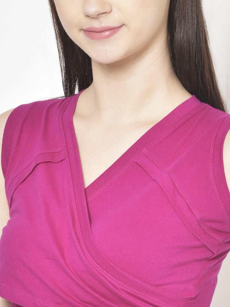 Cation Magenta Solid Top