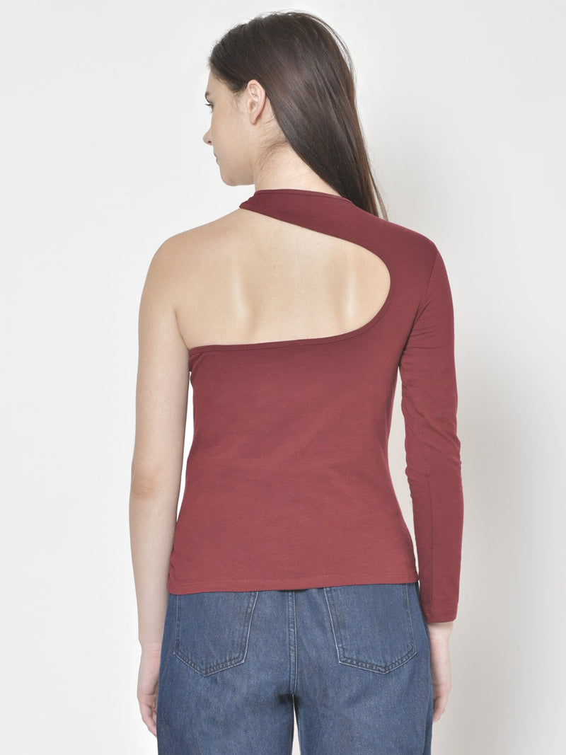 Cation Maroon Solid Top