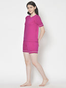Cation Magenta Night Suit