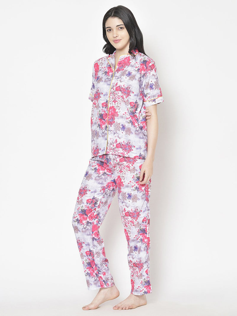 Cation Printed Night Suit