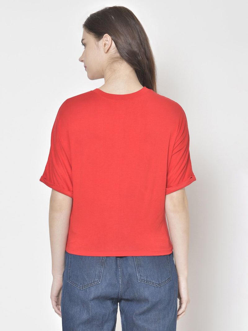 Cation Red Solid Top