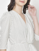 Cation White Printed Top
