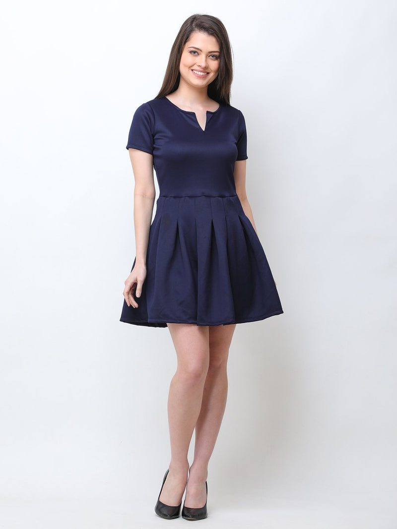 Scorpius Navy solid dress