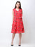 Scorpius red ruffle dress