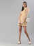 SCORPIUS Gold Power shoulder organza dress