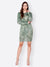 SCORPIUS GREEN PRINTED BODYCON DRESS