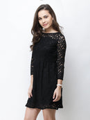 Cation Black Lace Dress