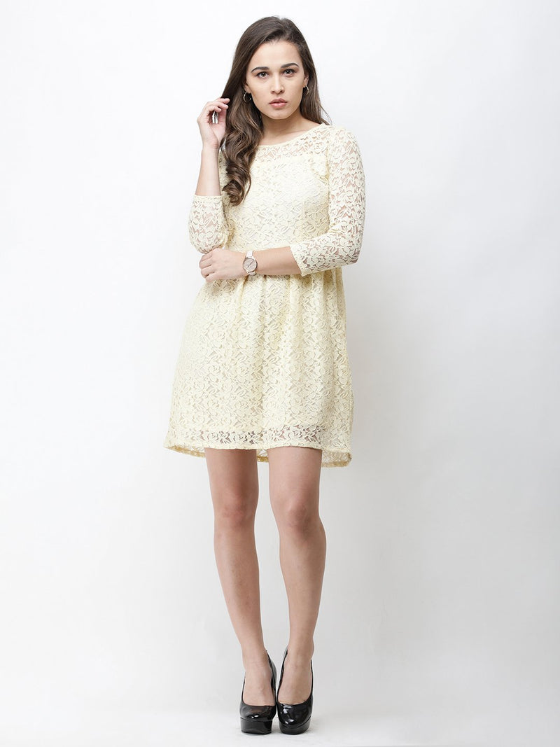 Cation Cream Lace Dress