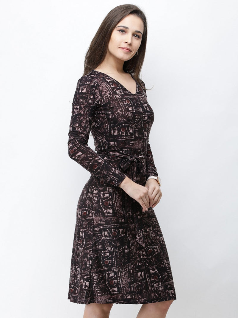 Cation Black Printed Dress