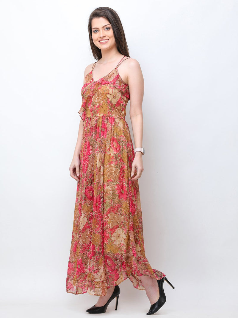 Golden maxi dress