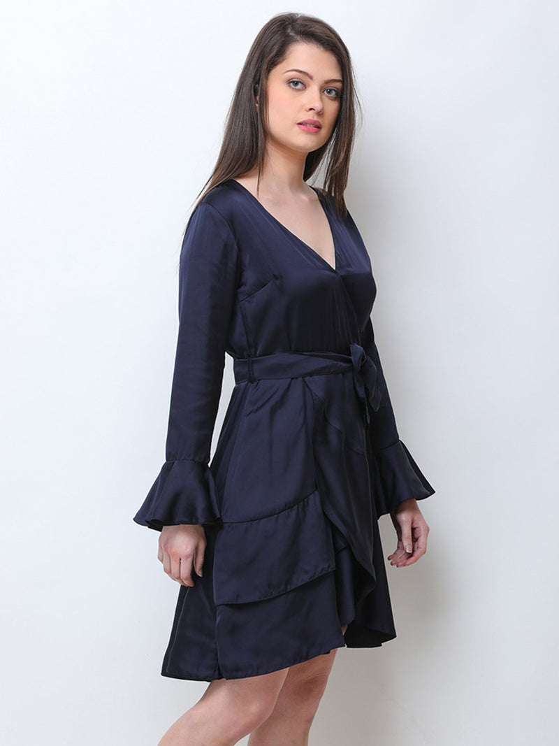 Navy Wrap Dress