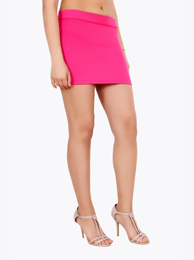 Pink Solid Skirt