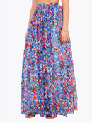 Cation Blue Printed Long Skirt