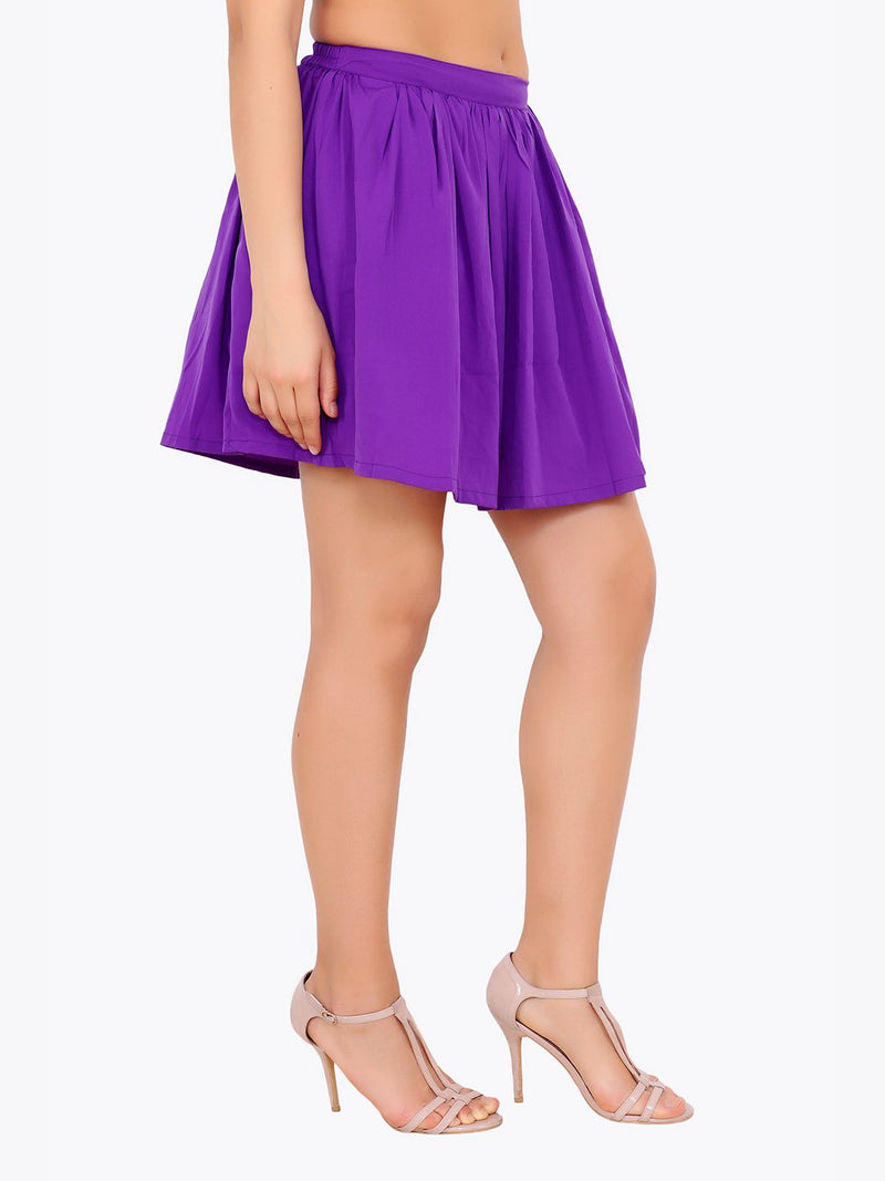 Purple Solid Skirt