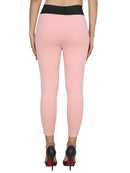 Pink Solid Jeggings