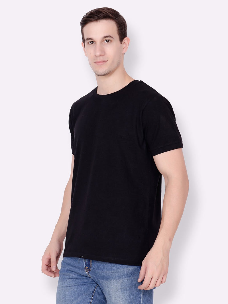 Black Solid Tshirt