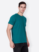 Green Solid Tshirt