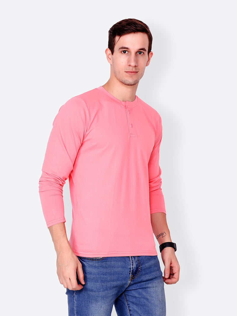 Pink Solid Tshirt