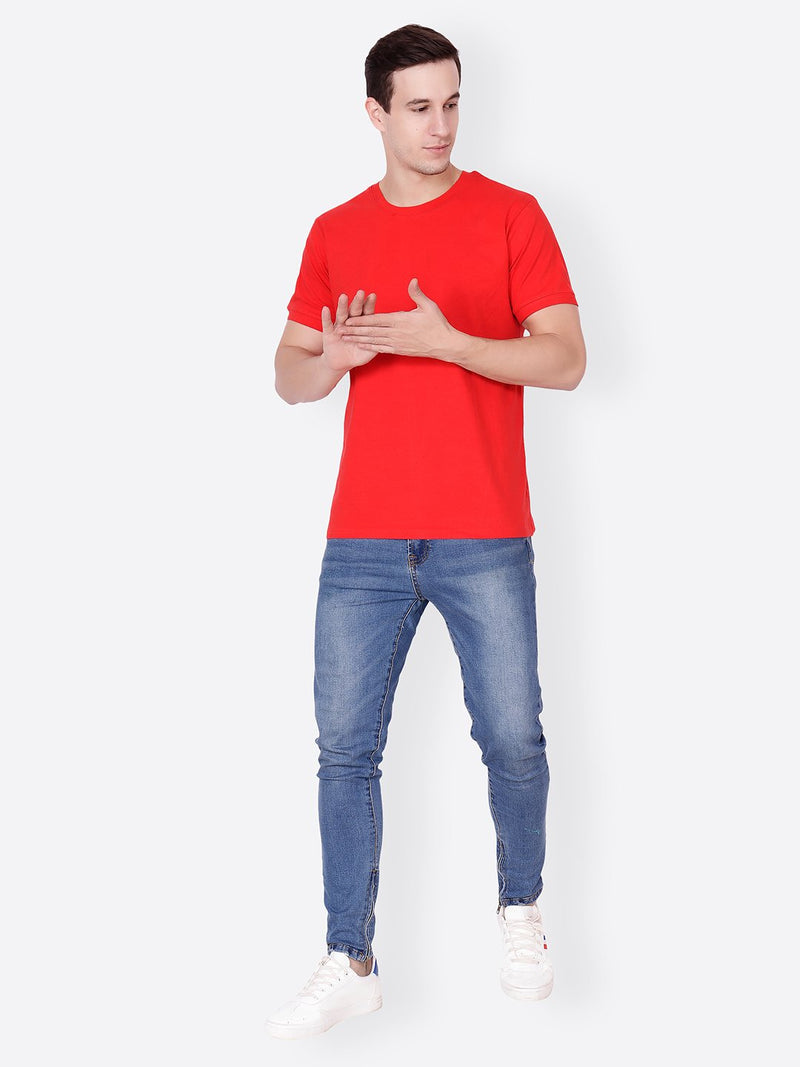 Red Solid Tshirt