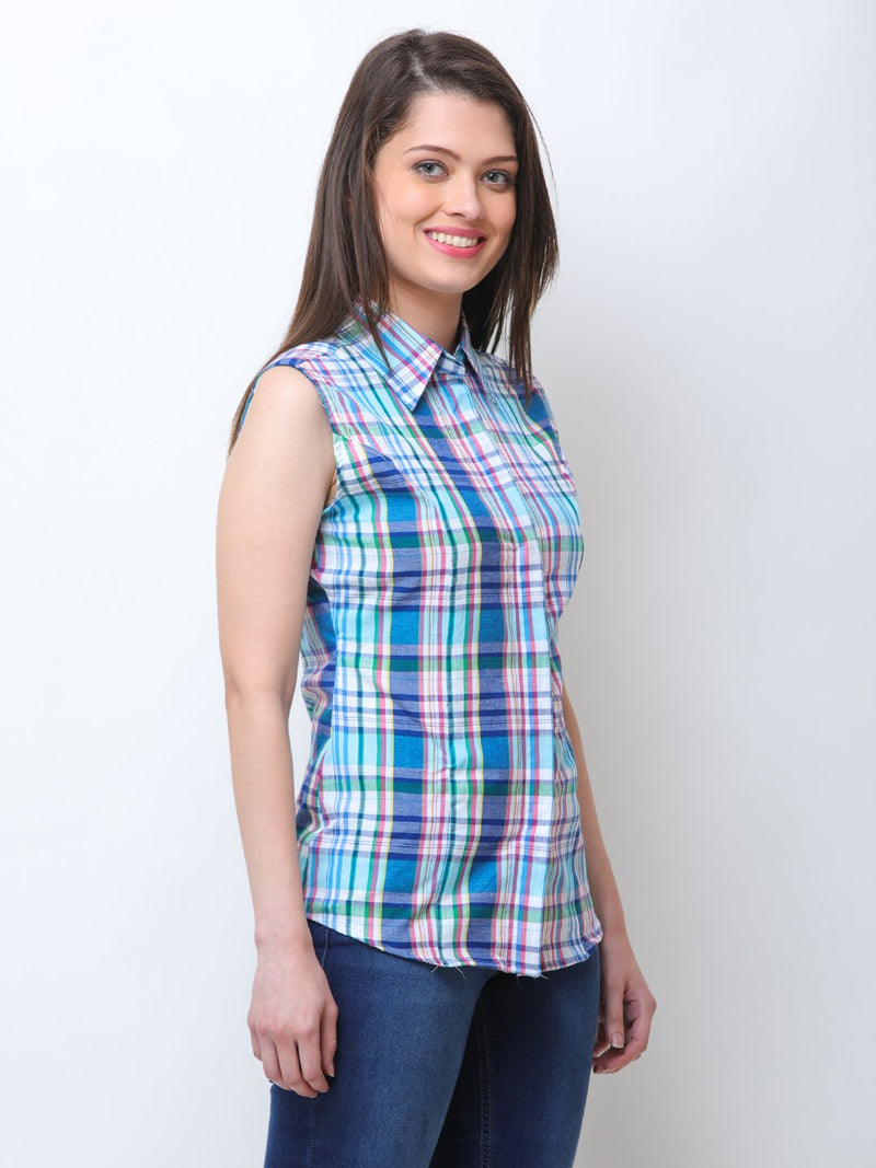 Blue Checkered Shirt