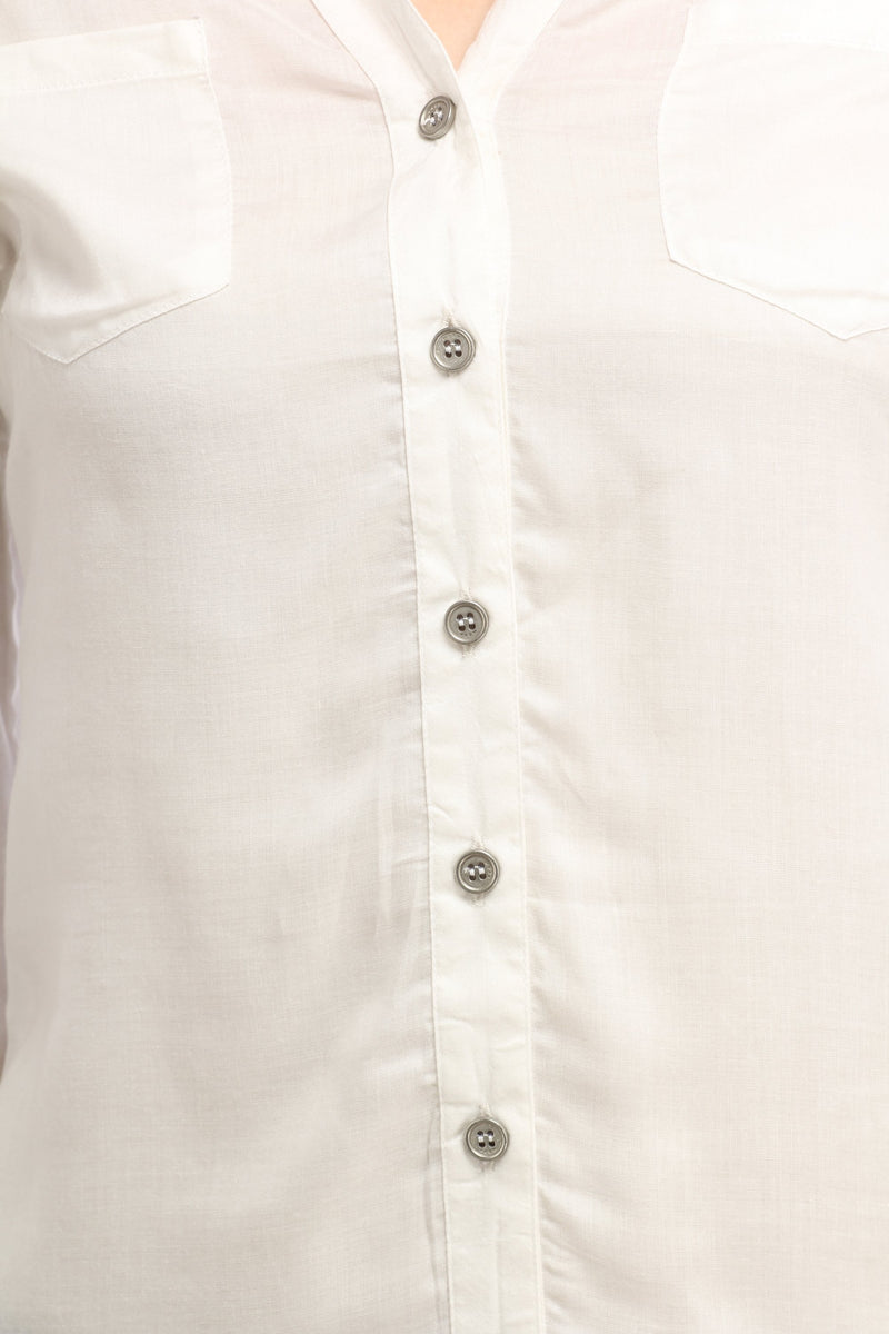 White Solid Shirt