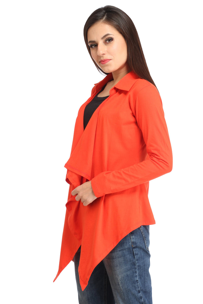 Orange Solid Shrug