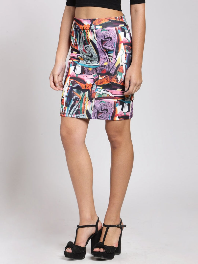 Multicolor Printed Skirt