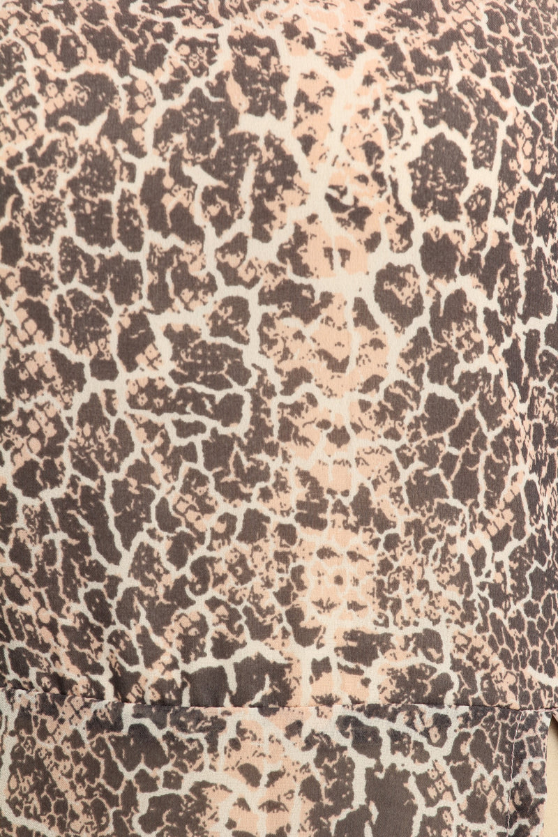 Brown Printed Tunic
