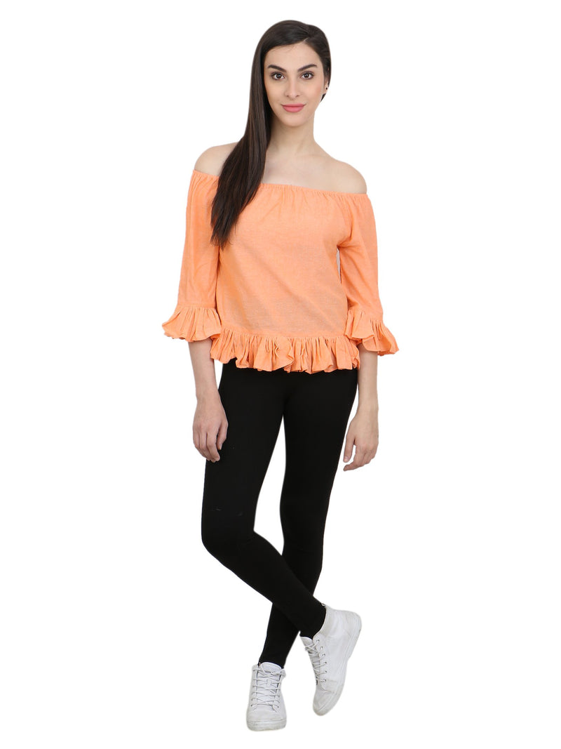 Orange Solid Top