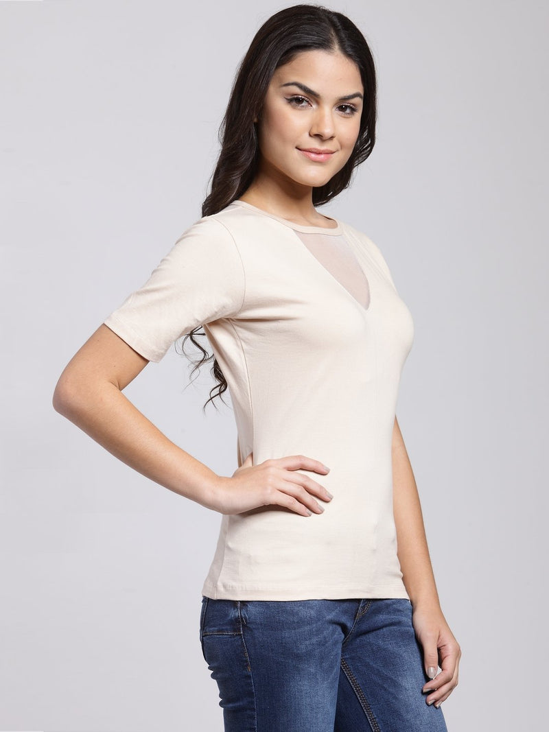 Cream Solid Top