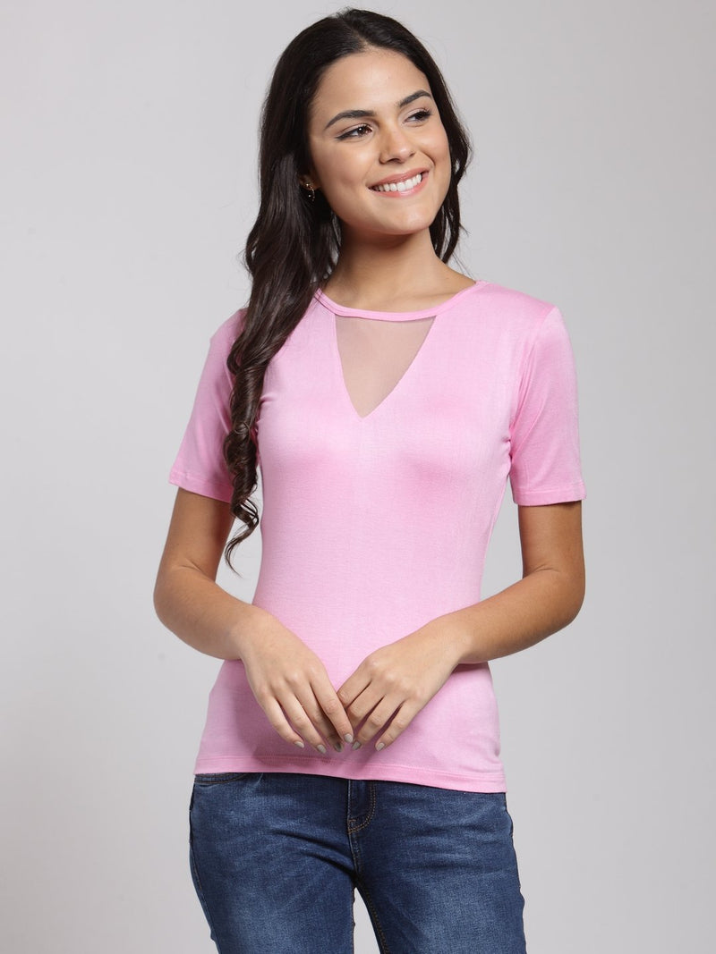 Pink Solid Top