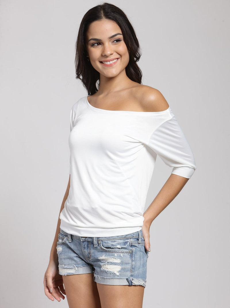 White Solid Top
