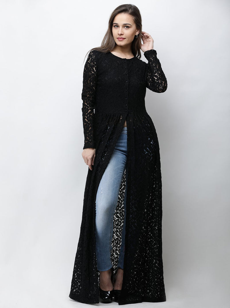 Cation Black Lace Tunic