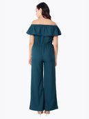 Green Solid Jumpsuit