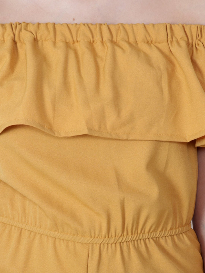 Yellow Solid Jumpsuit