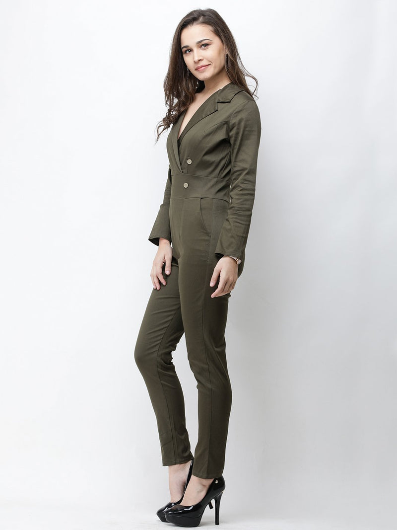 Cation Olive Green Jumpsuit