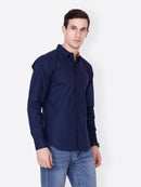 Cation Men Navy Blue Shirt