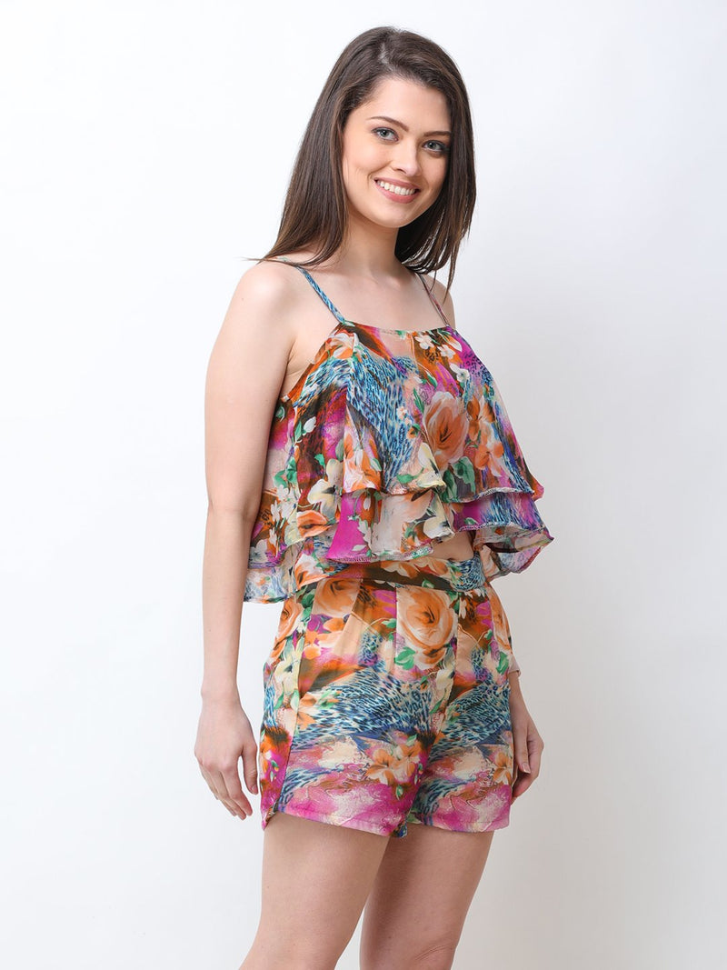 Multicolor printed Co-ord Set
