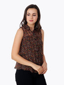 Brown Printed Shirt