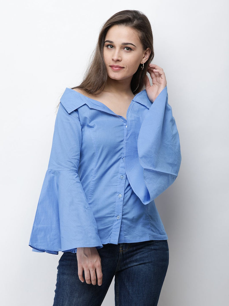 Cation Blue Solid Shirt
