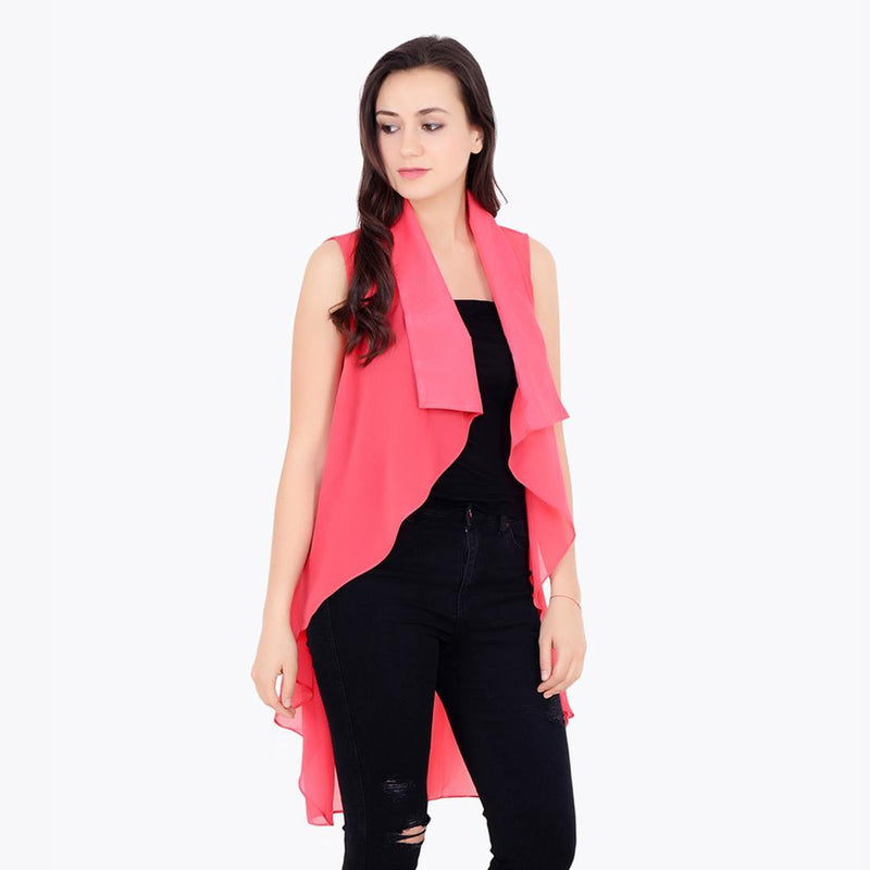 Pink Solid Shrug