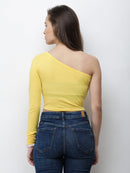 One Shoulder Crop Top