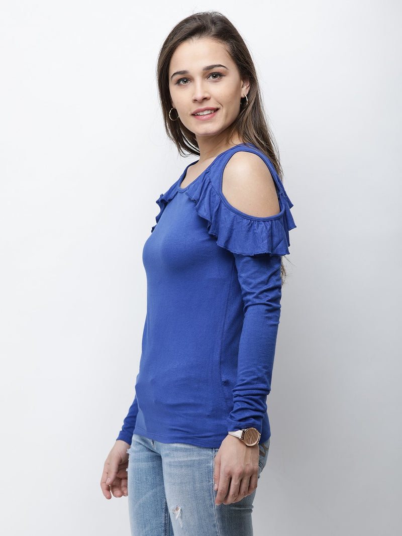 Royal Blue Solid Top