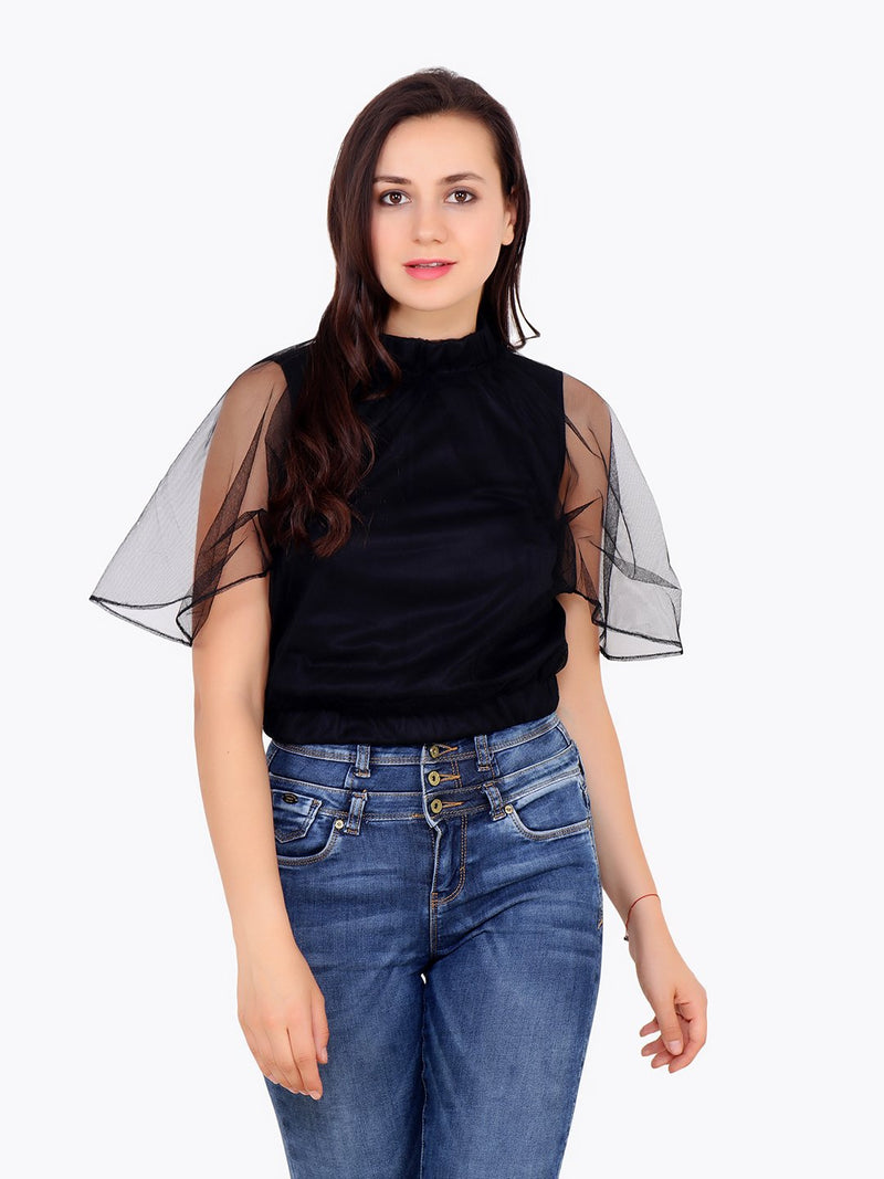 Black Net Top